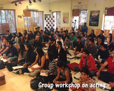 Acting workshop in Mumbai addressed by a top Bollywood Star