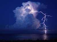 Lightning over Bahamas