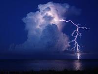 Lightning over Bahamas