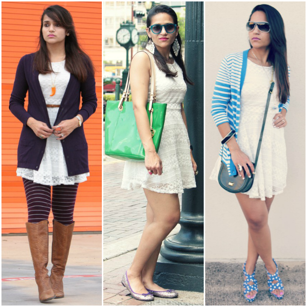 Three Ways To Wear A White Skater Dress, Tanvii.com