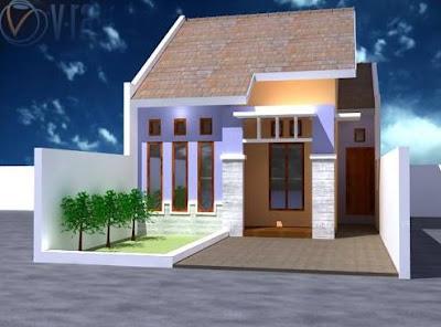 Contoh Gambar Desain Rumah Minimalis 1 lantai Type 36