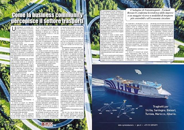 AGOSTO 2021 PAG. 28 - Come la business community percepisce il settore trasporti