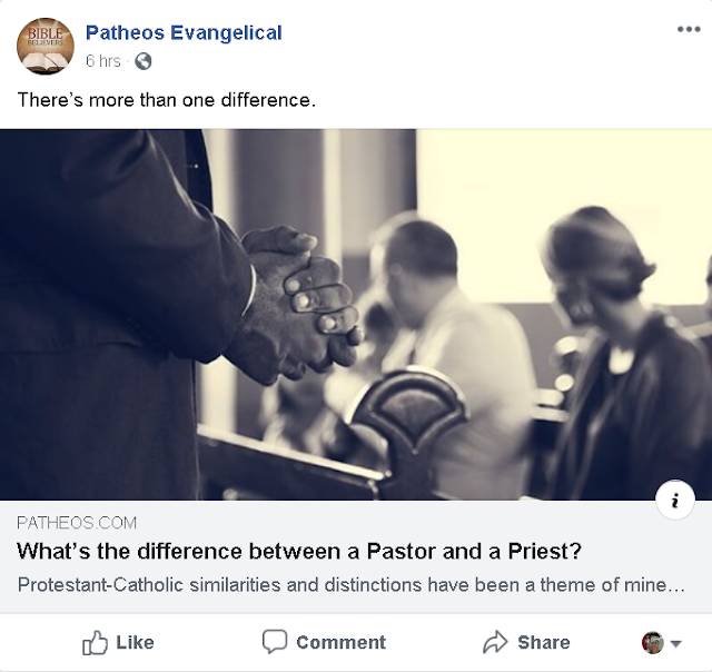 https://www.patheos.com/blogs/blackwhiteandgray/2012/01/what%E2%80%99s-the-difference-between-a-pastor-and-a-priest/?utm_content=buffer1ab32&utm_medium=social&utm_source=facebook&utm_campaign=FBCP-EVG&fbclid=IwAR2ySpUNqHZRa3RupBMh1KBMVAqSVFsHb5dYcCdzt0iw0-zonTWaIkiRJp8
