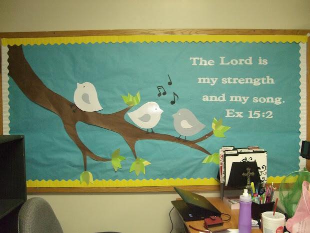 Spring Church Bulletin Board Ideas