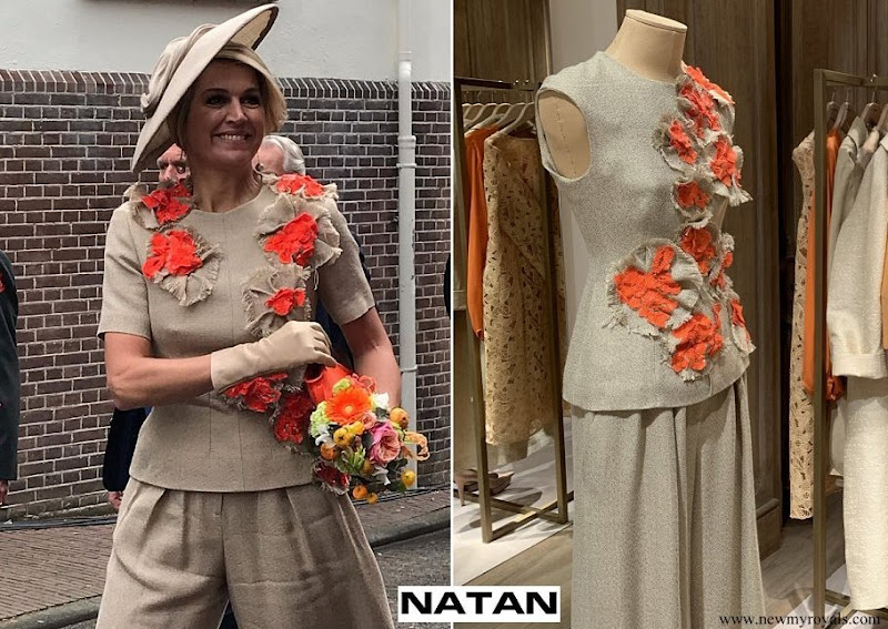 Queen Maxima's outfit is from the fashion house Natan