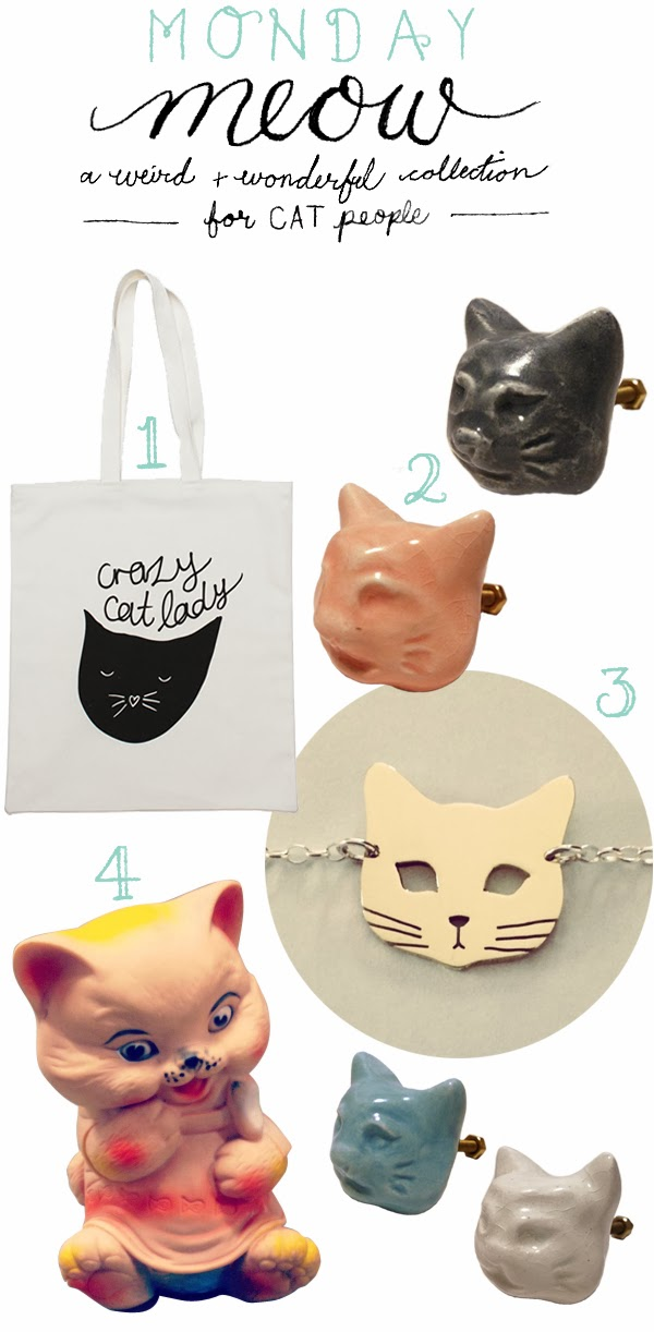 Monday Meow - a weird and wonderful collection of cat themed items for cat people