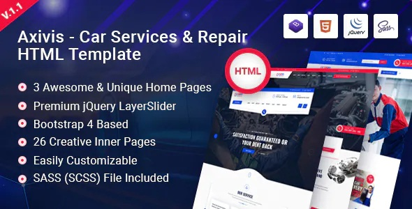Best Car Services and Repair HTML Template