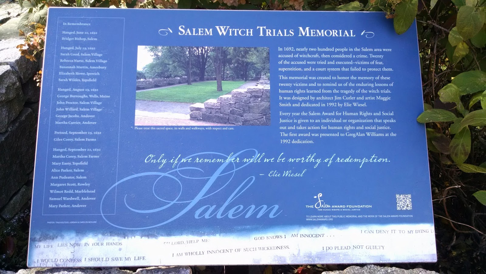 the salem witch trials martha carrier essay Martha carrier - a spiritual giant, and pioneer puritan feminist martha carrier, one of the alleged witches killed during the salem witch trialsshe boldly proclaimed her innocence as those around her confessed.