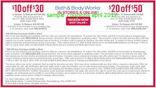 Bath And Body Works coupons for april 2017