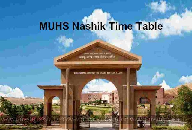 MUHS Nashik Time Table 2017–2018 Winter MD/MS/BAMS/MBBS muhs.edu.in