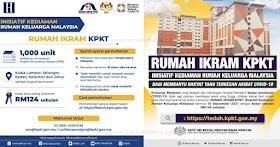 Permohonan Rumah IKRAM KPKT Kadar Sewa Hanya RM124 Sebulan