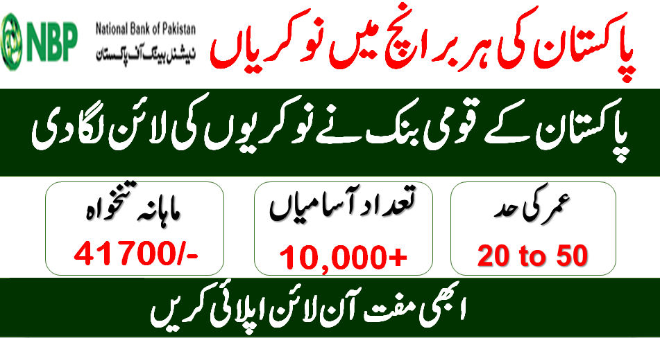 National Bank Jobs 2020 Online Apply Nbp Jobs 2020 All Pakistan Shakirjobs Com