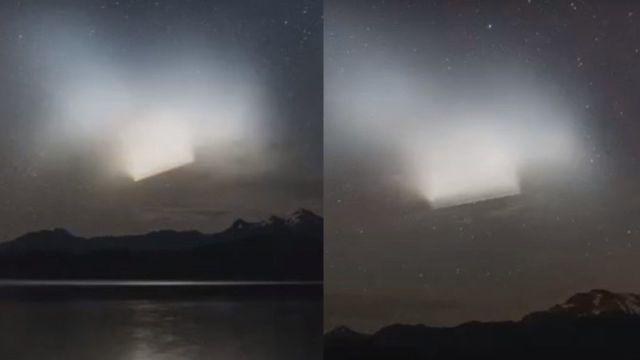 Misterio al aparecer un enorme objeto luminoso en el cielo nocturno sobre la Patagonia, Argentina