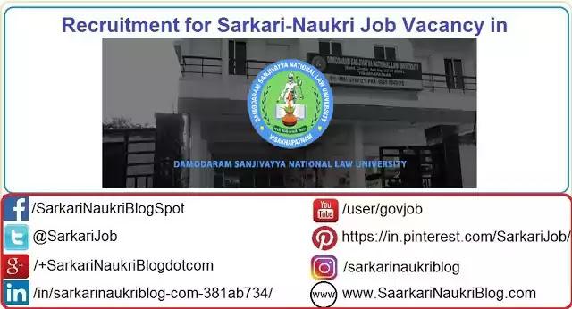 Recruitment in Damodaram Sanjivayya NLU