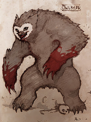 Owlbear in the Caves of Chaos