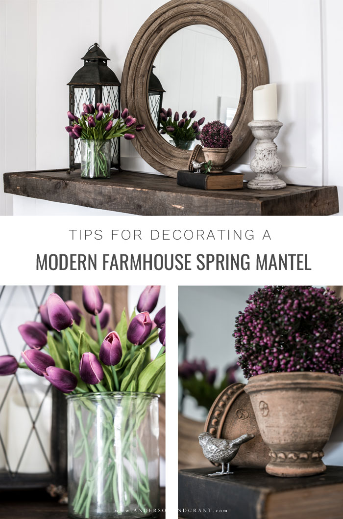 Tips for Decorating Modern Farmhouse Spring Mantel