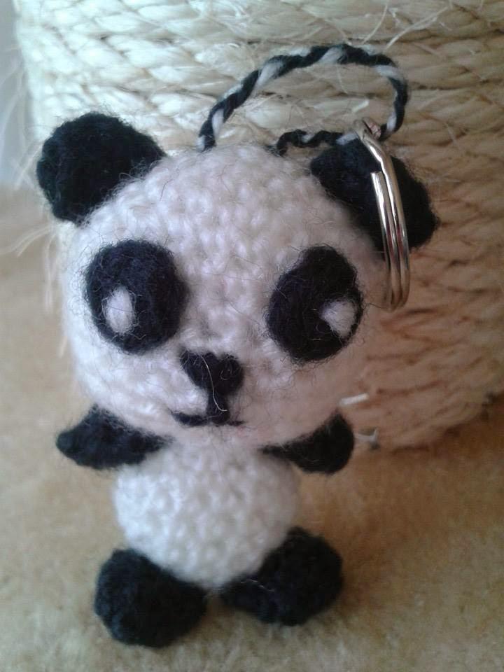 Haak Werkjes Sammy Pandabeer Sleutelhanger