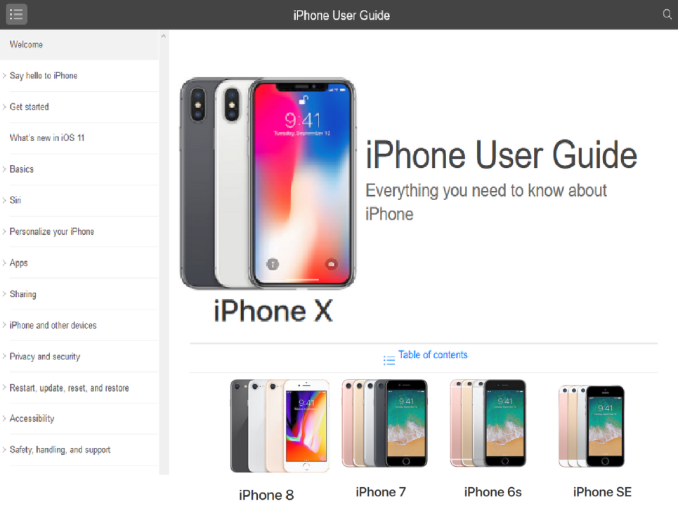 iPhone X User Guide PDF Download Free Tutorial iOS 11 | Bestv Phones