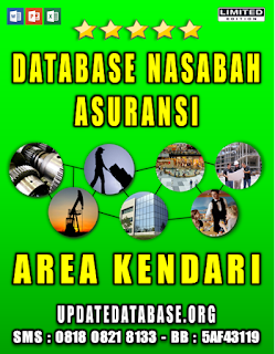 Jual Database Nasabah Asuransi Kendari