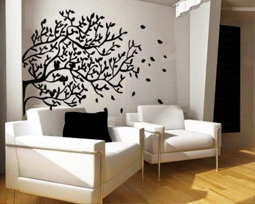 Motif Wallpaper Dinding Hitam Putih Yang Keren Untuk Ruang Tamu