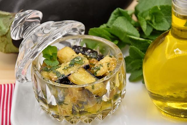 melanzane menta aubergine menthe italie