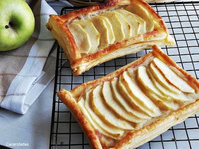Tartaleta de manzana hojaldre y crema
