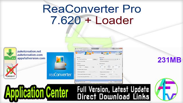 ReaConverter Pro 7.620 + Loader