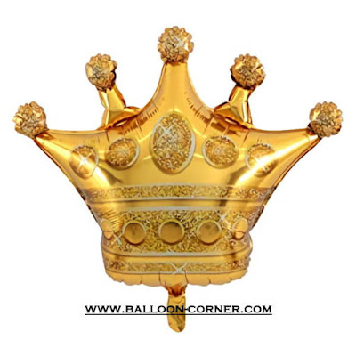 Balon Foil Mahkota Emas / Gold Crown