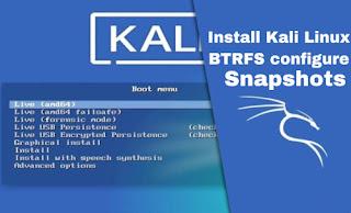 install kali linux BTRFS and Snapshots