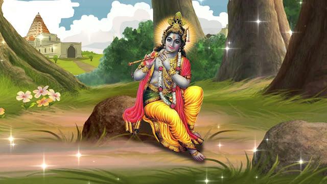 Lord Krishna River HD Wallpaper