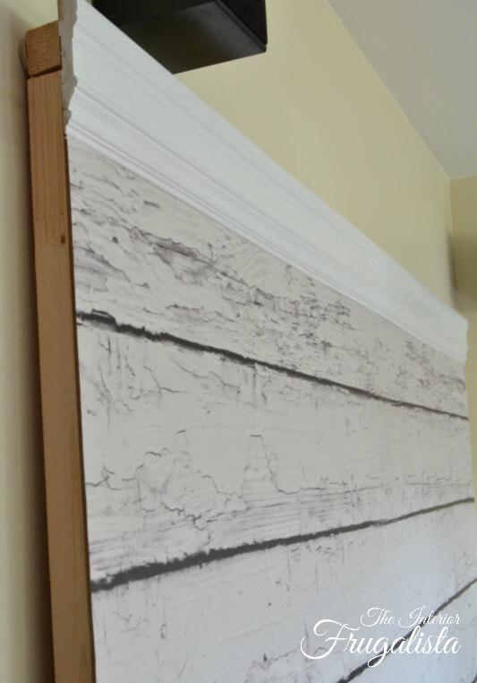 DIY Photo Backdrop Wall Crown Molding