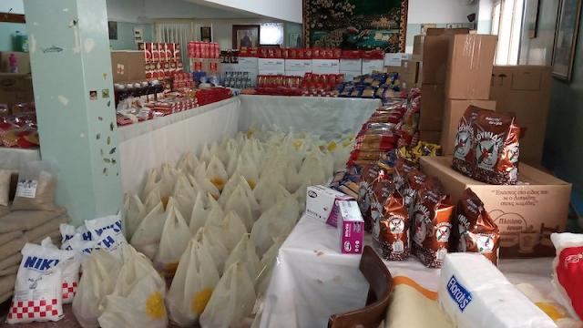 Τρόφιμα σε  95 οικογένειες μοίρασε ο Ιερός Ναός της Ευαγγελίστριας Ναυπλίου