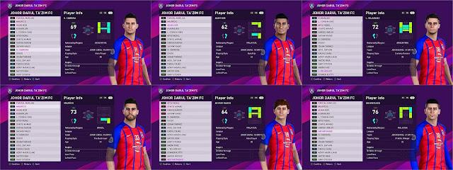 AFC Teams Face Edit Mode For PES2020 by JDTFC