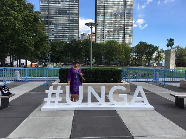 Indah Nuria Savitri at UN Headquarters