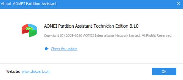 Download AOMEI Partition Assistant 8.10
