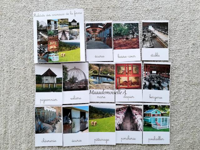 || Cartes de nomenclature : Nouveautés de février 2019 : Habitats des animaux de la ferme