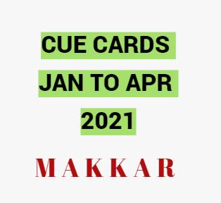 IELTS cue card Jan to Apr 2021