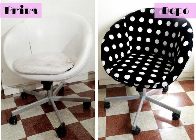 Le idee della vale ikea hack la mia nuova sedia skruvsta for Rivestire una vecchia poltrona