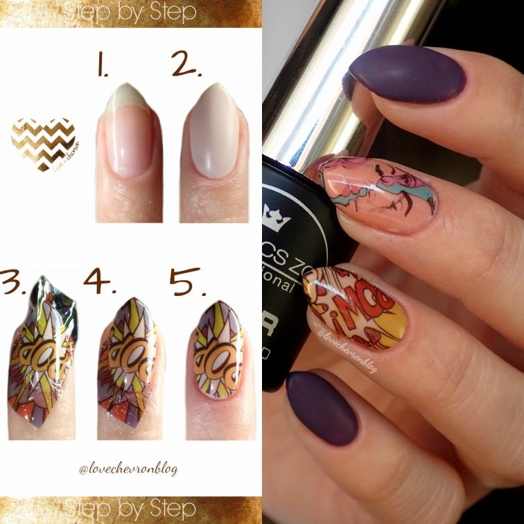 Step by step nails | paznokcie krok po kroku | naklejki wodne na paznokcie krok po kroku | tutorial paznokciowy | zdobienie paznokci krok po kroku |
