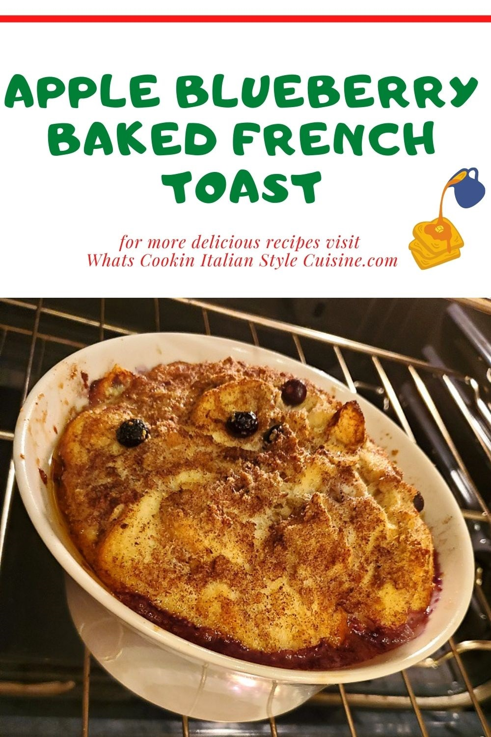 this is a pin for later apple blueberry baked french toast