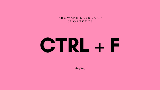 Browser Keyboard Shortcuts