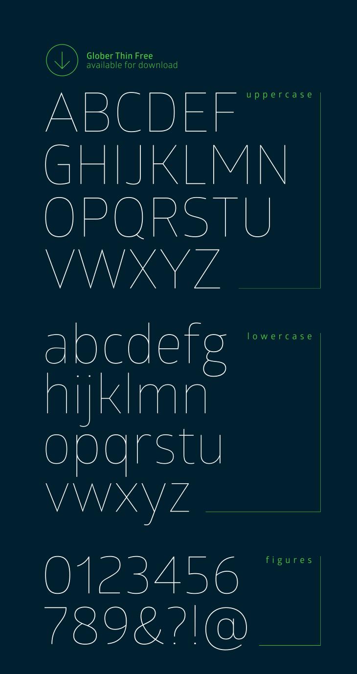 [Sans-serif] Glober Bold, Thin và Book Việt hóa
