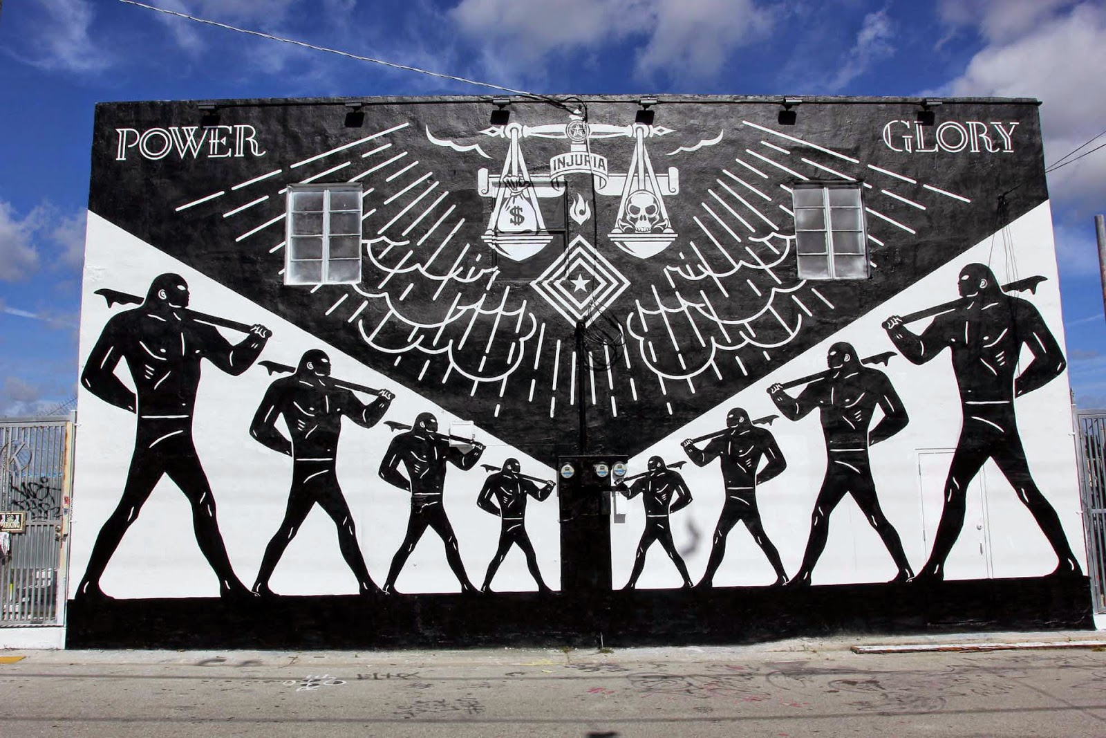 Shepard Fairey is also in Miami for Art Basel 2014 where he teamed up with Cleon Peterson to beautify the streets of Wynwood.