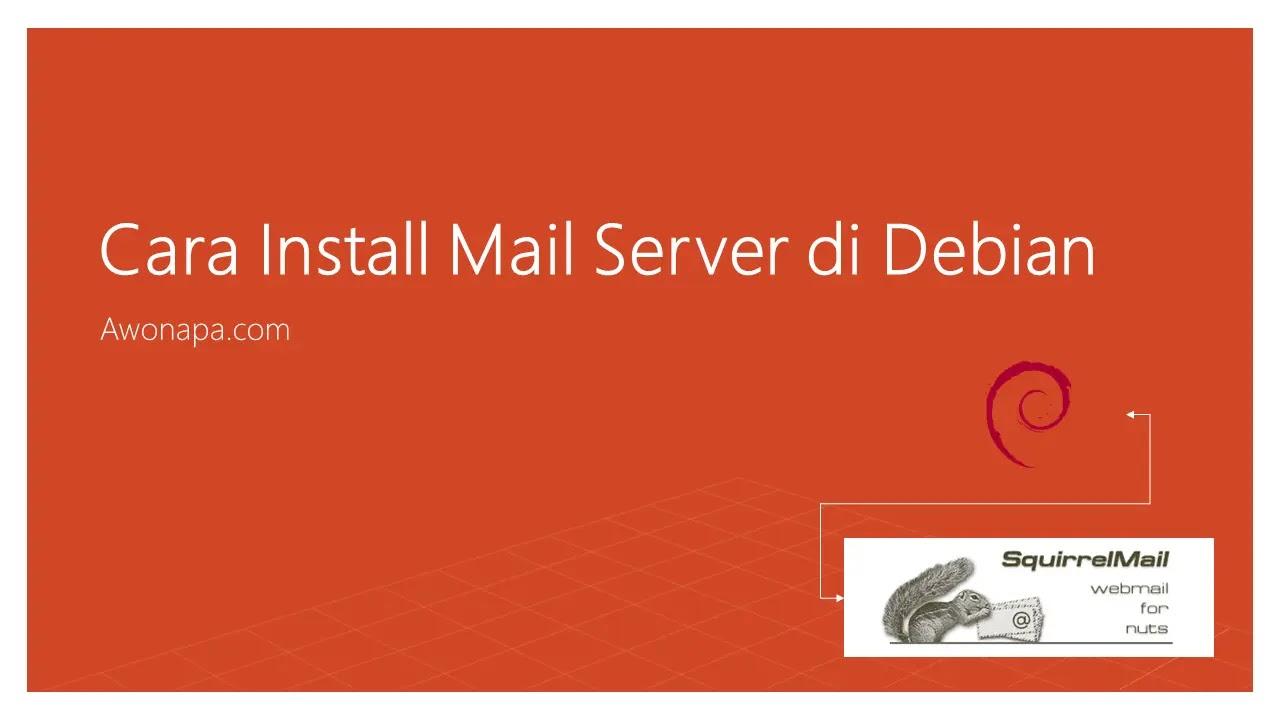 Mail Server Squirrelmail pada Debian