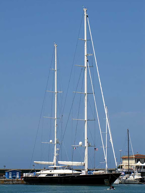 Sailing yacht Silvana by Perini Navi, IMO 8182947, port of Livorno