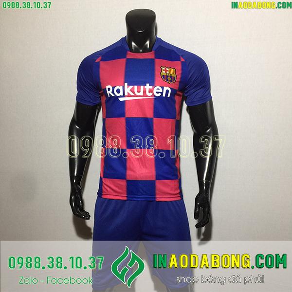 Áo bóng đá câu lạc bộ Barcelona màu xanh đỏ