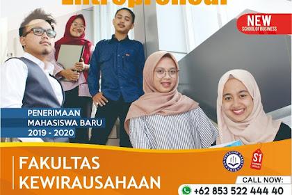 Penerimaan Mahasiswa Baru Fakultas Kewirausahaan Universitas Garut (UNIGA)
