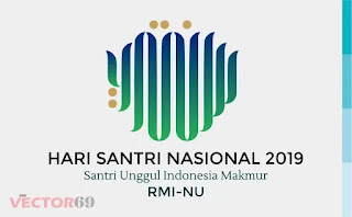 Logo Hari Santri Nasional (HSN) 2019 Santri Unggul Indonesia Makmur RMI-NU - Download Vector File SVG (Scalable Vector Graphics)