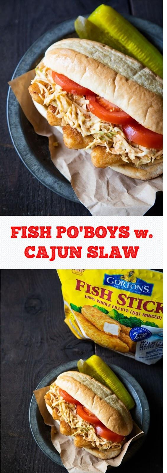 FISH PO'BOYS w. CAJUN SLAW