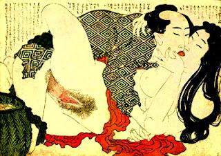 dessin érotique de Katsushika Hokusai